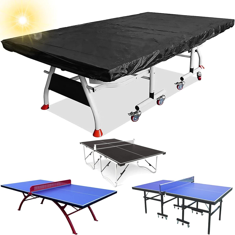 GuoPan Cubierta de Mesa de Ping Pong Cubierta de Mesa de Tenis de Mesa Transpirable Impermeable Resistente al Invierno para Exterior/Interior 280×150×5 cm