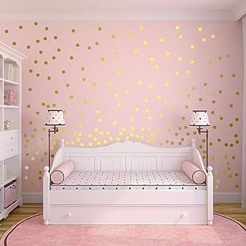 Slivercolor Gold Punkt Aufkleber Herausnehmbarer Dot Aufkleber Wandtattoo Punkte Fur Kinderzimmer Deko 1 2 Zoll 216 Punkte Amazon De Baumarkt