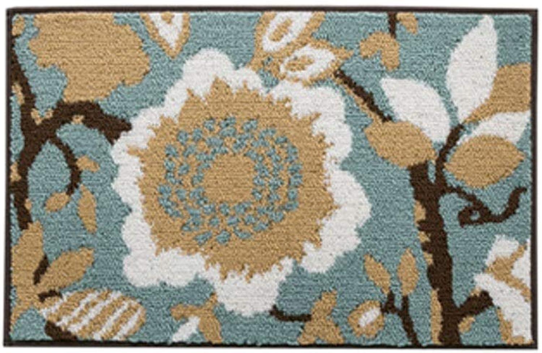 Doormat,Super Fiber mat,Suitable for Living Room Kitchen Bedroom Bathroom,Proper Thickness,bluee (Size   32  44 inch)