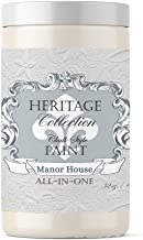 Heritage Collection All in One Chalk Style Paint-Color: Manor House (Off White) 32oz Quart