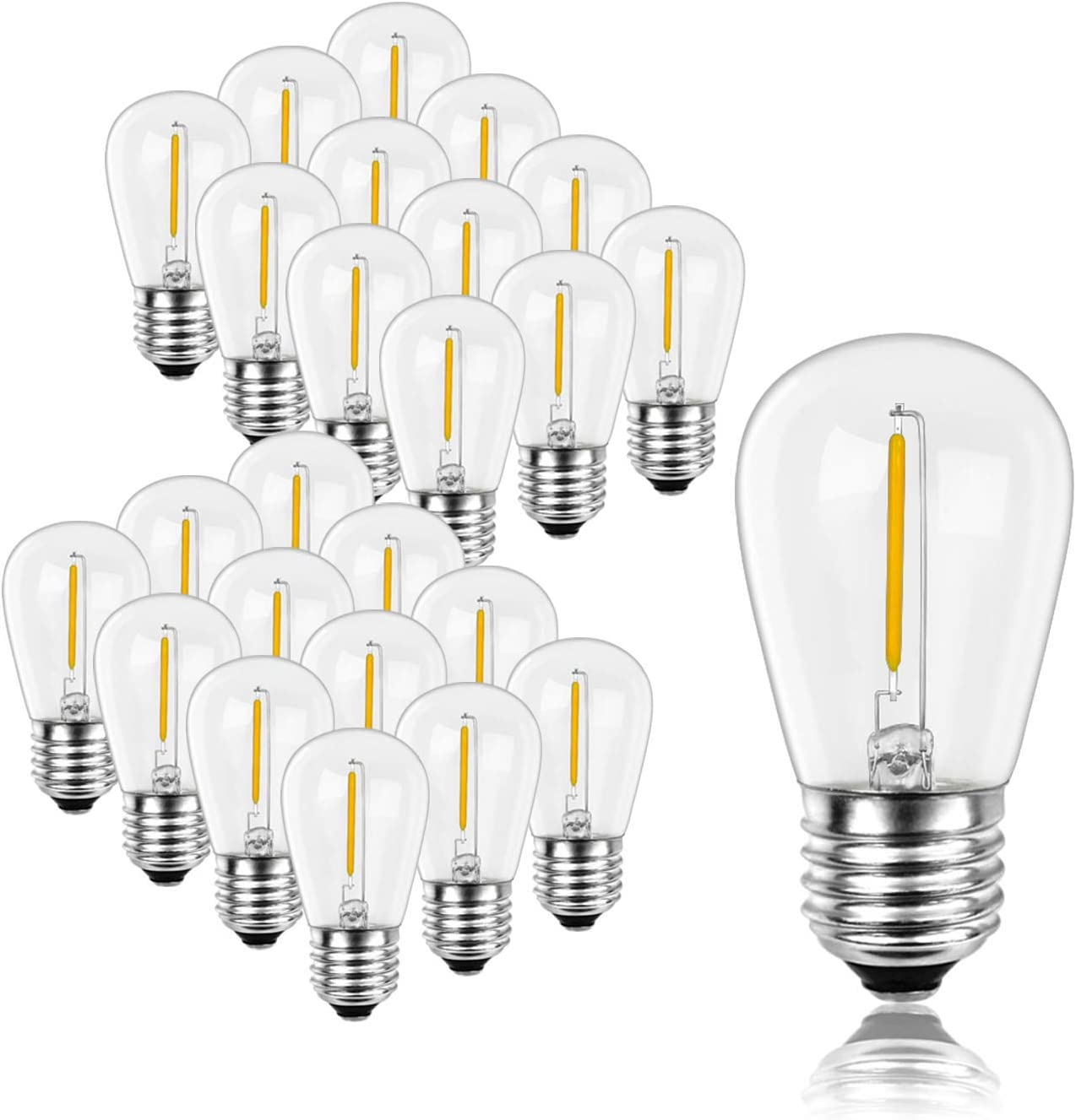 1W S14 LED Light Bulb - Today's only Truly 2200K Dimmable Clear Great interest Warm E2 Glass