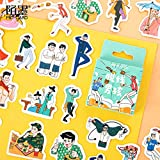 BLOUR Guapo Offline Boys Paper Small Diary Mini Cute Box Stickers Set Scrapbooking Kawaii Flakes Journal Stationery