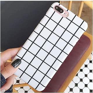 white grid phone case