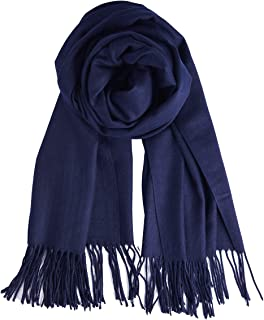 QBSM Womens Large Soft Wedding Evening Pashmina Shawls Wraps Scarfs for Mother's Day Gifts