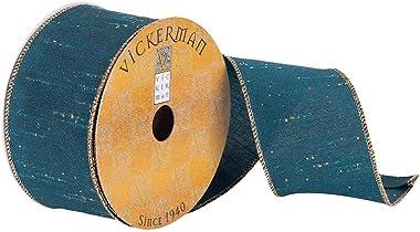 "Vickerman Ribbon, 2.5"", Teal"
