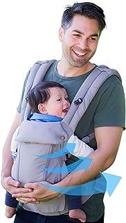 ルミエール 6WAY 抱っこ紐【アメリカ発】温度調節パネルで年中快適 - 前向き おんぶ 授乳可能 - 腰サポート付(Pearl Grey)