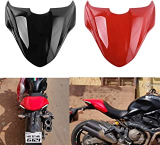 XX eCommerce Motorcycle Motorbike ABS PlasticRear Pillion Passenger Hard Seat Cowl Cover Section Fairing for 2014-2017 Ducati Monster 821 2015 2016 2017 (Red)