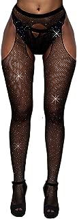 Crystal Fishnet Stockings, Women's Sexy Sparkle Rhinestone Stockings