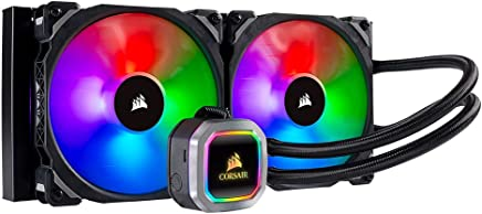 Corsair H115i RGB Platinum AIO Liquid CPU Cooler, 280mm, Dual ML140 PRO RGB PWM Fans, Intel 115X/2066, AMD AM4/TR4