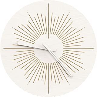 """Wenday Wall Clock,12"""" Silent Non-Ticking Quartz Decorative Clocks, Modern Style Good for Living Room Home/Office/Battery Operated"""