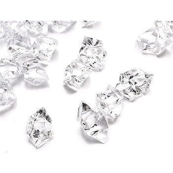 SIMUER 500g Gemme del Diamante Acrilico,Trasparente Matrimonio Cristallo Artificiale Diamante Cristallo,gltzer Pietre Tavolo Decorativa per la Decorazione Domestica dei Regali di Cerimonia