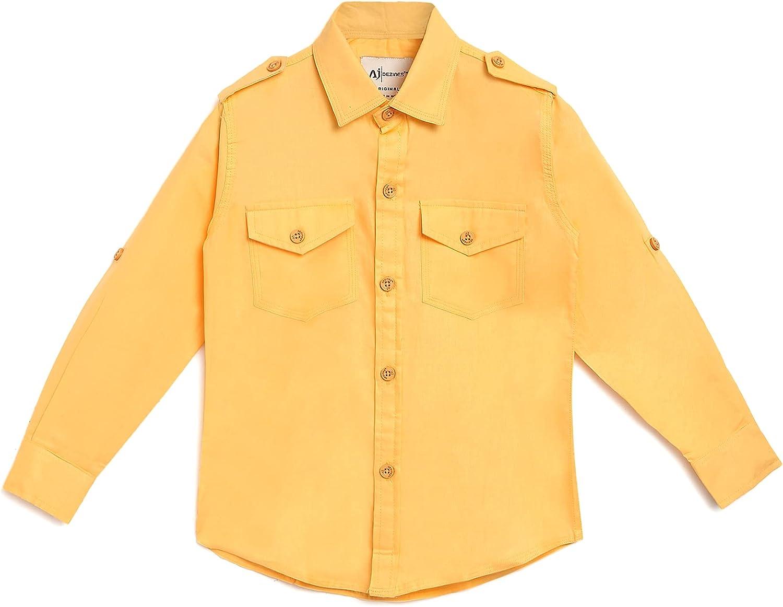 AJ DEZINES Kids Cotton Full Sleeve Solid Shirt for Boys (SH-410-$P)