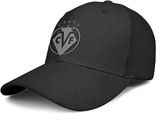 Villarreal-CF-El-Submarino-Amarillo-VCF-Gray- Mens Popular Sport Hat Baseball Cap Snapback Hat Trucker Hat Golf Cap