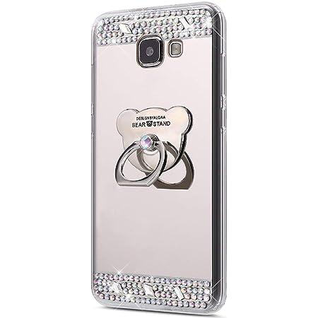Coque Galaxy A3 2016,Surakey [360 Rotation Bague bâton support] Bling Paillette Glitter Strass Miroir Housse Coque Silicone TPU Etui Téléphone Coque ...