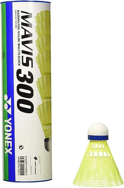 Yonex Mavis 300 Nylon Shuttlecocks Dozen White or Yellow Med or Fast 2 Tubes