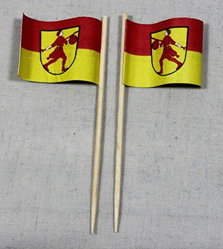 Buddel-Bini Party-Picker Flagge Wilhelmshaven Papierfähnchen in Spitzenqualität 50 Stück Beutel