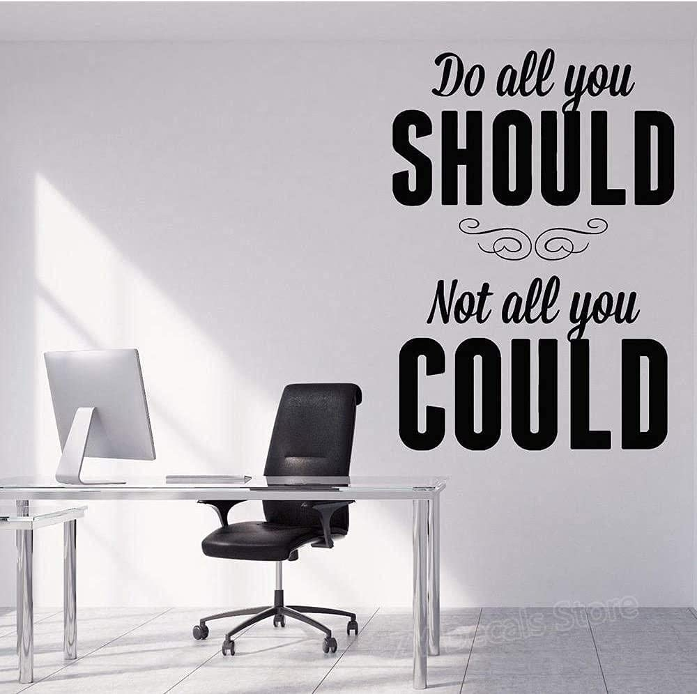 Today's only MAODU Stylish Art Wall Stickers Words Motivation De Office Vinyl 55% OFF