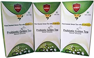 NUTRUS Probiotic Green Tea 20 Sachets (Lemon Flavour)