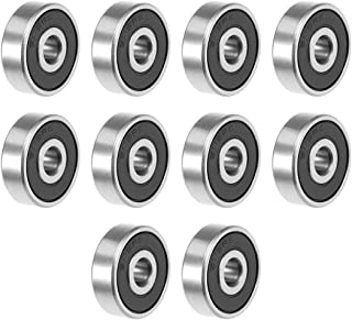 uxcell 635-2RS Deep Groove Ball Bearing 5x19x6mm Double Sealed ABEC-3 Bearings 10-Pack