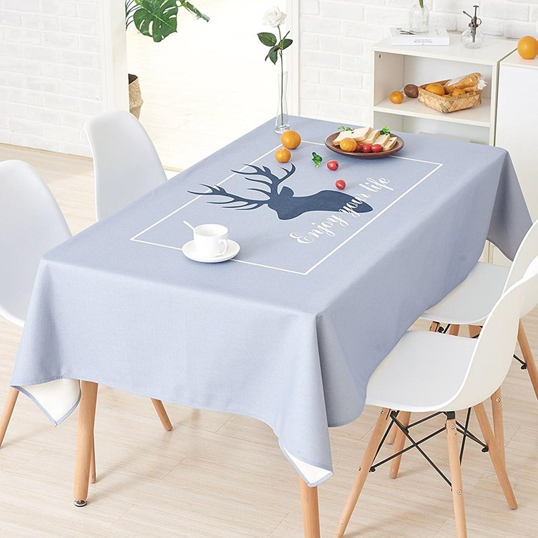 orden ahora disfrutar de gran descuento Tablecloth Clothes UK- UK- UK- Mantel nórdico Simple pequeo Mantel Fresco algodón Rectangular cuadrícula Azul Mantel Escritorio Mantel Manteles (Color   Solid Color, Tamao   140×200cm)  precio mas barato