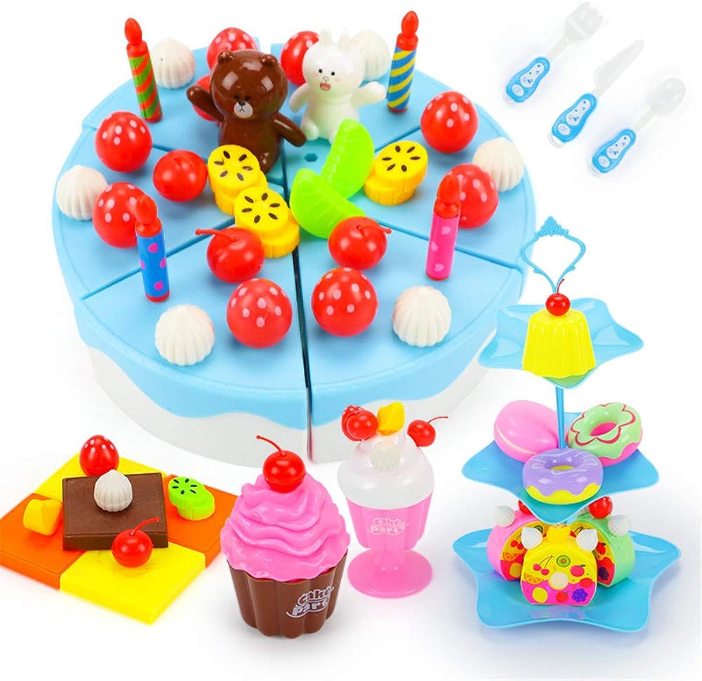 apresurado a ver LinlinJuguete Juguete Interactivo para Niños Niños cortan Juguetes Juguetes Juguetes de Frutas Juegue Combinación de Cocina para bebés y Niños y Traje de Pastel Juguetes Educativos (Color   Azul)  para barato