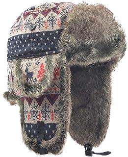 Accessoryo Accessoires 58cm Écossais Tartan Rouge Chapka Homme