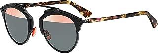 Dior DIOR SO REAL SHINY BLACK HAVANA/PINK GREY 48/22/140 unisex Sunglasses