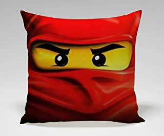 Red Ninjago Master of Spinjitzu Throw Pillow Cover Case Cushion for Couch Sofa Home Decor 18X18 Inch