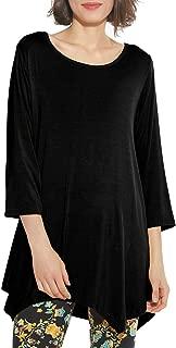 Women 3/4 Sleeve Swing Tunic Tops Plus Size T Shirt