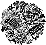 Breezypals Stickers, Laptop Stickers Car Motorcycle Bicycle Luggage Decal Graffiti Patches Skateboard Sticker Pack (Black Stickers 100Pcs)