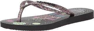 Havaianas Kids' Slim Fashion Flip Flop Sandal, Black, 11/12 M US