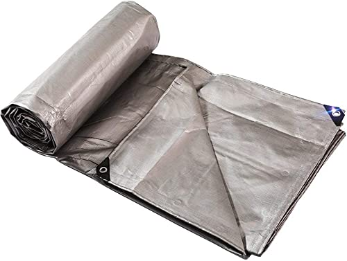 MONFS Home Tissu Anti-Pluie imperméable bache Poncho imperméable Tapis de Camping Cargaison écran Solaire Anti-oxydant résistant à l'usure (Couleur   gris, Taille   6X8M)