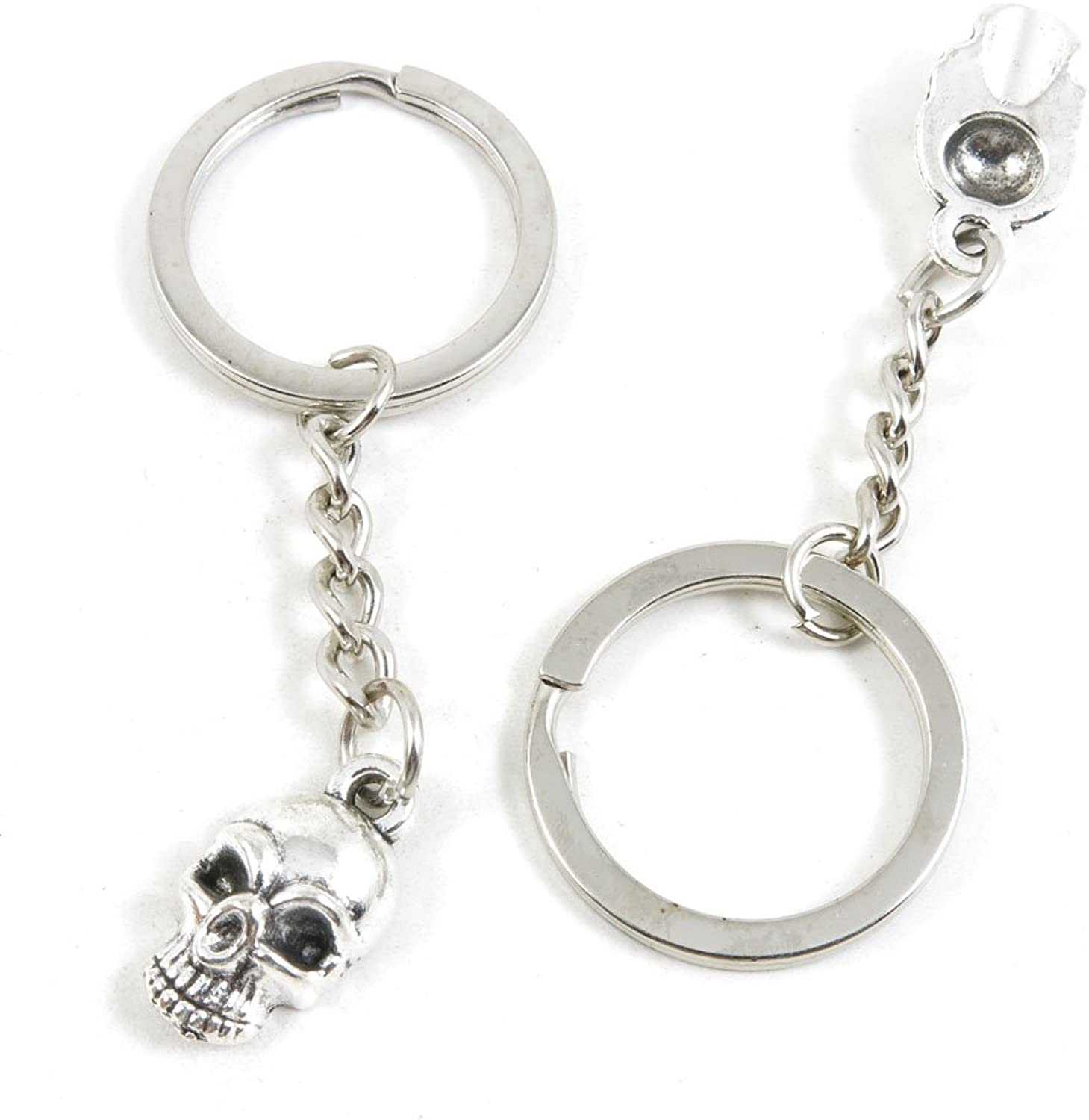 170 Pieces Fashion Jewelry Keyring Keychain Door Car Key Tag Ring Chain Supplier Supply Wholesale Bulk Lots J7BE7 Skull