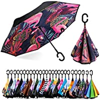 Spar Saa Double Layer Inverted Umbrella with C-Shaped Handle