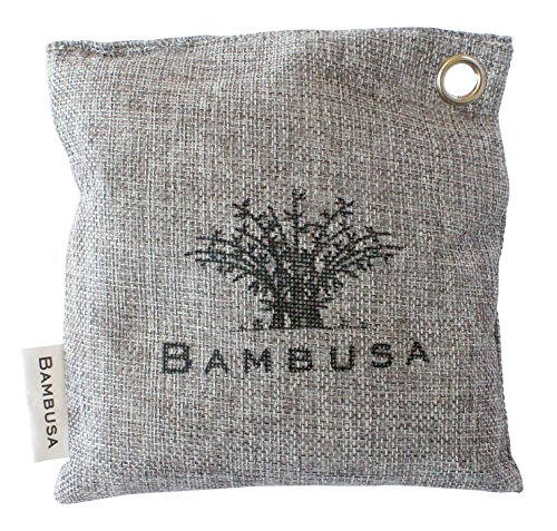 Bambusa Bamboo Charcoal Bag, Moisture Absorber, Air Purifier, and Odor Eliminator for Gym Bags,...
