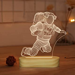 Space Lights for Bedroom,Astronaut 3D Illusion Lamp,Cool Room Decor Night Light for Kids Xmas Gifts