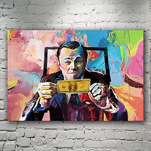 wZUN Wall Street Canvas Art Money Talk Art Wall Street Pintura Impresa 90x60 Sin Marco