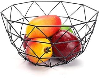 KANJJ-YU Fruit Basket fil Décorée de rangement en métal panier Bowl fruits rack Table légumes salle à manger Décoration Cu...