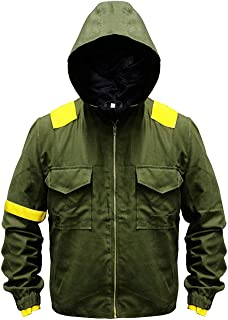 Twenty One Mens 21 Green Pilots Cotton Trench Jumpsuit Hoodie Levitate Camouflage Jacket : Special Sale