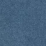 Deshome Roma 5 metri - Tessuto al Metro Idrorepellente Stoffa per divani, cuscini, tappezzeria, arredo (Blu capri)