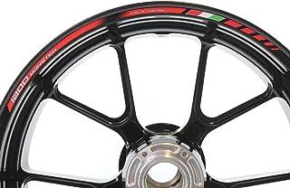 IMPRESSIATA Ducati Hypermotard 821 Motorrad Felgenrandaufkleber SpecialGP Rot Komplettset Aufkleber Sticker