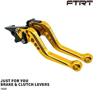 FTRT Short Brake Clutch Levers for Honda GROM MSX125 2014-2018,CBR250R 2011-2013,CBR300R/CB300F/FA 2014-2017,CB400F/CB400R 2013-2015,CBR500R/CB500F/X 2013-2017,HONDA Monkey 125 2018 2019. Gold