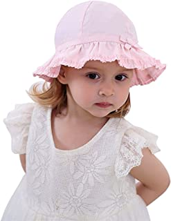 Toddler Kids Baby Girl Breathable Sun Hat Cotton Foldable 50+ SPF Protective