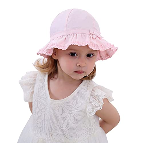 Toddler Kids Baby Girl Breathable Sun Hat Cotton Foldable 50+ SPF Protective c7abc15743a