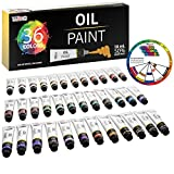 U.S. Art Supply Professional 36 Color Set of Art Oil Paint in Large 18ml Tubes - Rich Vivid Colors for...
