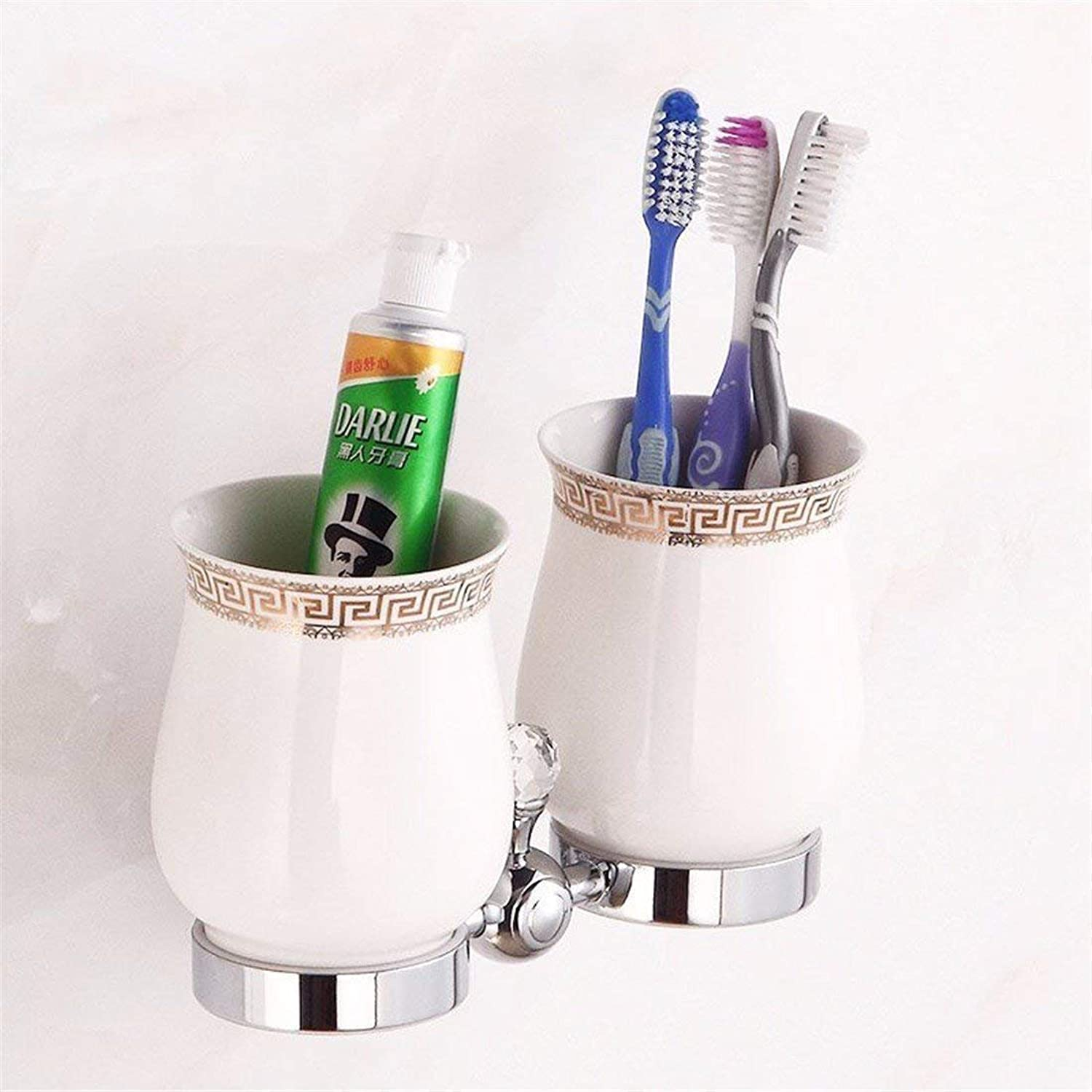 Base in Silver Copper European in The Bathroom Crystal Costume Coat Hanger Toilet Paper Rack soap, Double Cup