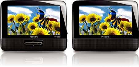 Philips PD7012/37 7-Inch LCD Dual Screen Portable DVD Player, Black (Discontinued by Manufacturer)