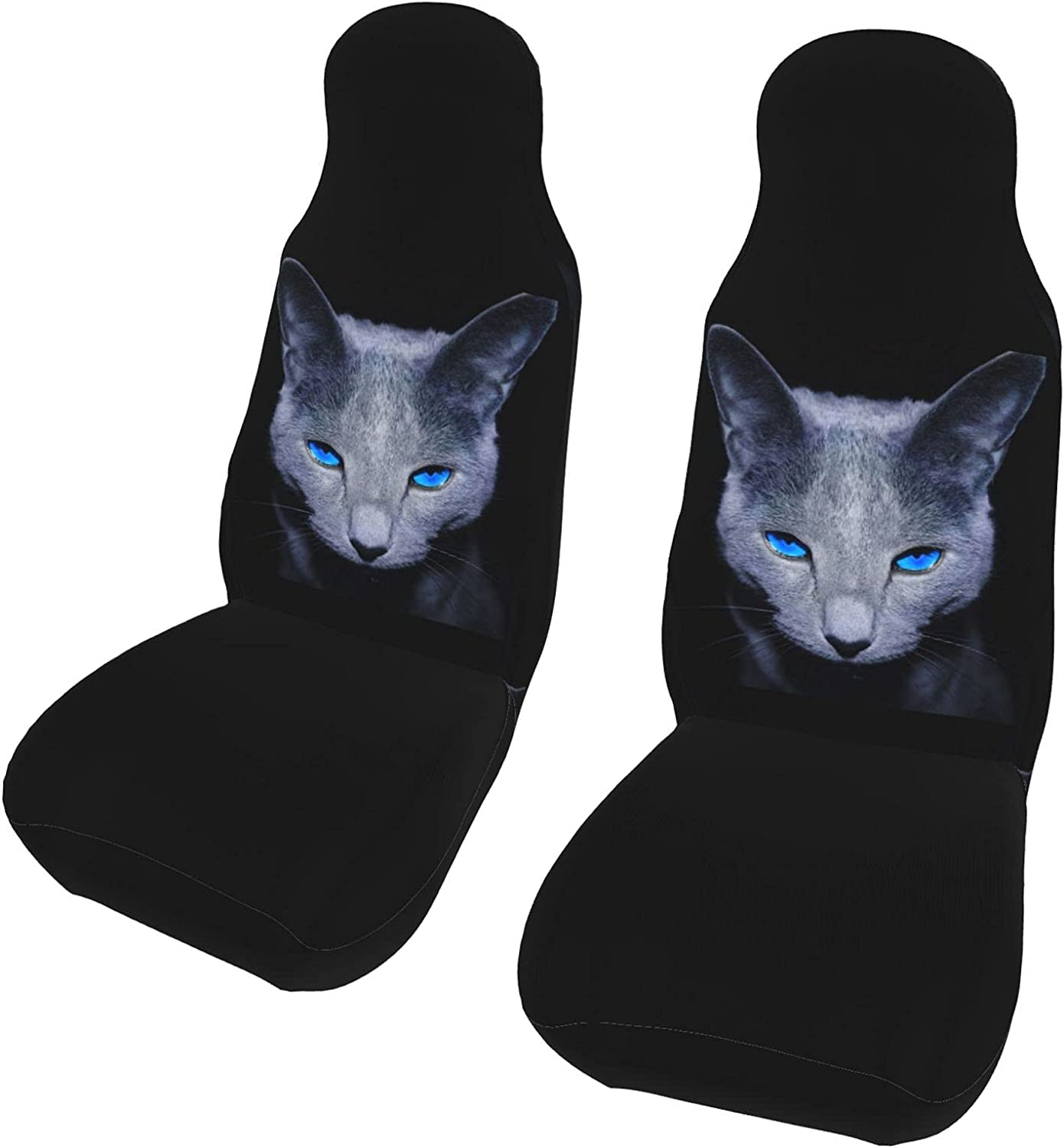 PictetW Animal Cold Blue Cat Sapphire Seat Car Eyes Covers Cheap sale online shopping