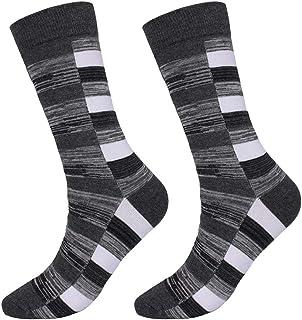 MoGist, Calcetines para hombre, de negocios, multicolor, clásicos, de algodón, gruesos, térmicos, medios, largos, para deporte o uso diario