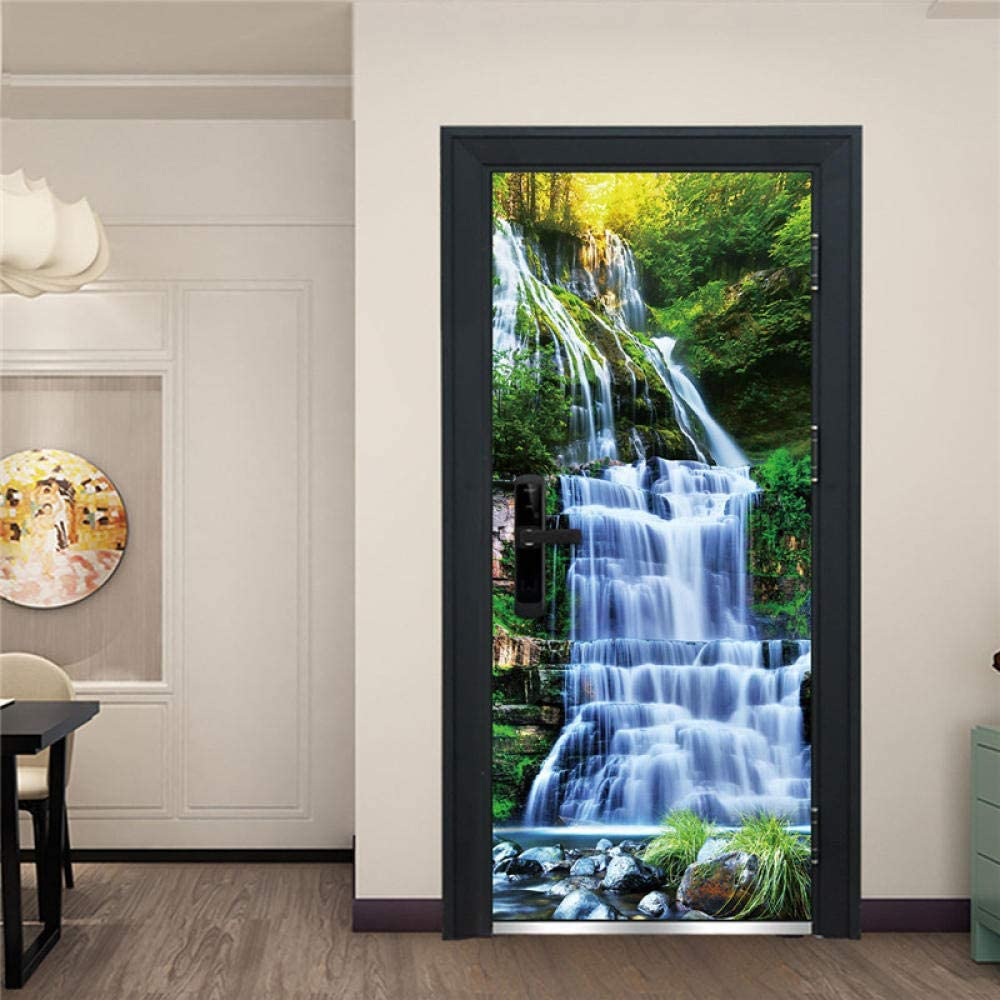 3D Max Free shipping 42% OFF Door Stickers Landscape Mural Summer Green Sticke Plants
